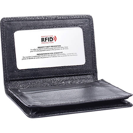 Swiss Mobility Carrying Case Business Card License Black Leather 08