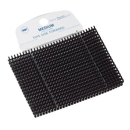"GBC® ProClick® Pronto™ P3000 Binding Spines, 1/2"", 80-Sheet Capacity, Black, Pack Of 100"