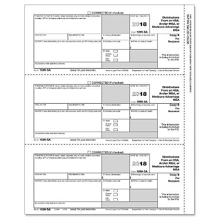 complyright 1099 sa inkjetlaser tax forms recipient copy b 8 12 x 11