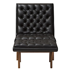 Baxton Studio Yasin Faux Leather Chair