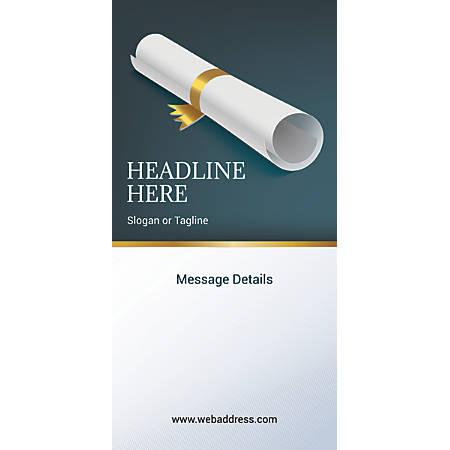 Custom Vertical Display Banner, Scroll