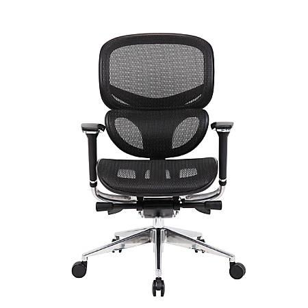 Boss® Multifunction Mid-Back Task Chair, Black/Chrome