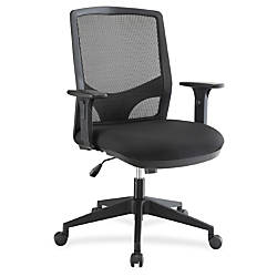 Lorell Executive MeshFabric Swivel Chair Black