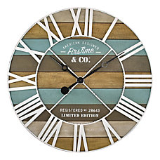 FirsTime Co Maritime Planks Wall Clock