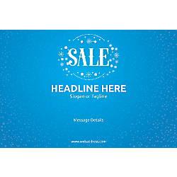 Custom Poster Sale Snowflakes Horizontal