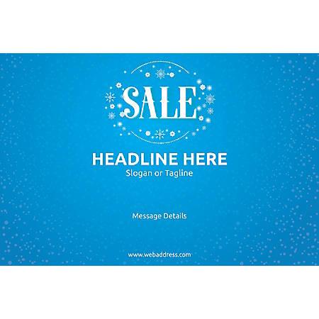 Custom Poster, Sale Snowflakes, Horizontal