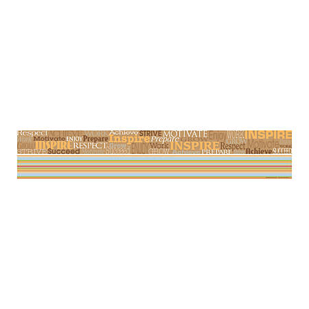 "Barker Creek Double-Sided Straight-Edge Border Strips, 3"" x 35"", Inspire, Pack Of 12"