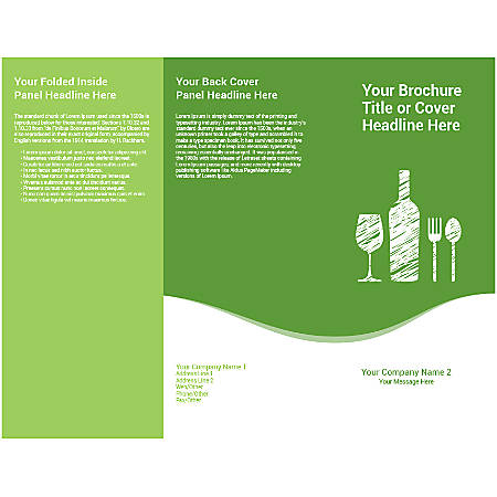 Customizable Trifold Brochure, Green Wine