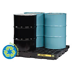 Justrite EcoPolyBlend Accumulation Center 4 Drum