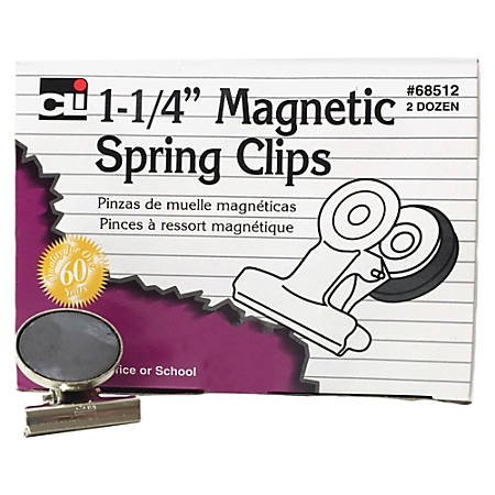 """CLI Magnetic Spring Clips - 1.3"""" Length - 24 / Box"""