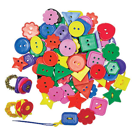 "Roylco® Super Value Bright Buttons, 1"", Assorted Colors, 2 Lb"