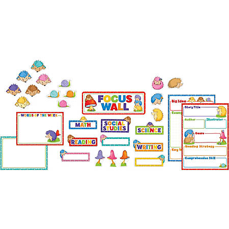 Carson-Dellosa Happy Hedgehogs Focus Wall Bulletin Board Set, Multicolor, Grades Pre-K - 5