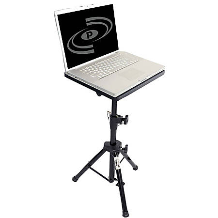 "PylePro PLPTS4 Pro DJ Notebook Tripod Adjustable Stand - 5"" Height x 16"" Width - Steel, Wood - Gloss Black"