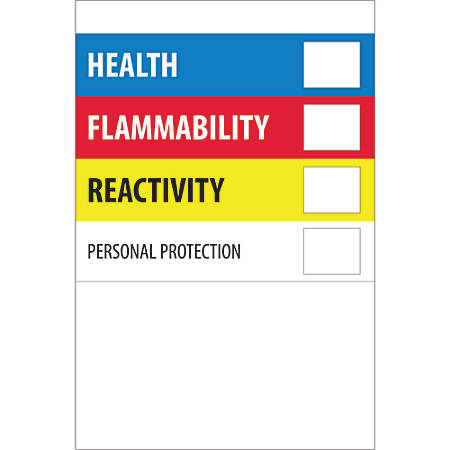 """Tape Logic® Preprinted Shipping Labels, DL1306, Health Flammability Reactivity, Rectangle, 2"""" x 3"""", Multicolor, Roll Of 500"""