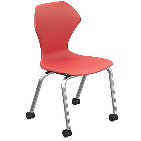 Marco Group Apex Mobile Stack Chairs, Red/Chrome, Pack Of 2