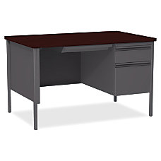 Lorell Fortress Series Steel Pedestal Desk