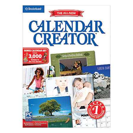 Encore™ Calendar Creator Deluxe 13, For PC/Apple® Mac®, Traditional Disc