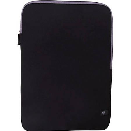 """V7 Ultra CSS4-GRY-2N Carrying Case (Sleeve) for 13.3"""" Notebook - Black, Gray - Neoprene, Ethylene Vinyl Acetate (EVA) Interior - 14.6"""" Height x 10.4"""" Width x 0.8"""" Depth"""