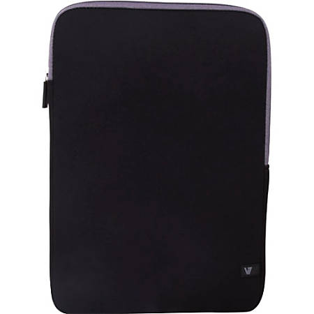"""V7 Ultra CSS4-GRY-2N Carrying Case (Sleeve) for 13.3"""" Notebook - Black, Gray"""