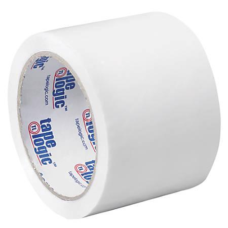 """Tape Logic® Carton-Sealing Tape, 3"""" Core, 3"""" x 55 Yd., White, Pack Of 24"""
