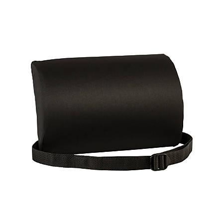 """Luniform™ Lumbar Support Cushion, 7 1/2""""H x 11"""" x 2 3/4""""D, Black"""