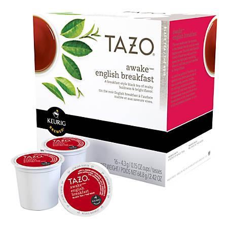 Tazo Awake Black Tea K-Cup® Pods, 0.4 Oz, Box Of 16 Pods