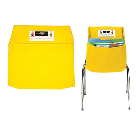 "Seat Sack™ Organizers, Small, 12"", Yellow, Grades Pre-K-1, Pack Of 2"