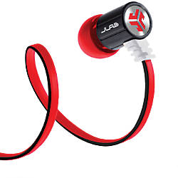 JLab Bass Rugged Earbud Headphones BlackRed