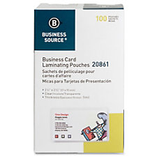 Business Source 5 mil Business Card