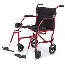 Medline Ultralight Transport Chair Burgundy