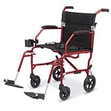 Medline Ultralight Transport Chair Burgundy