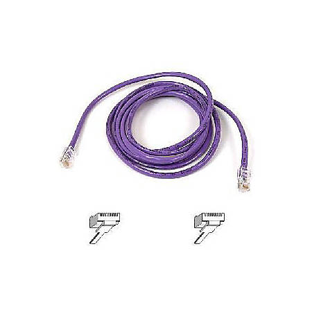 Belkin Cat5e Patch Cable - RJ-45 Male - RJ-45 Male - 5ft - Purple
