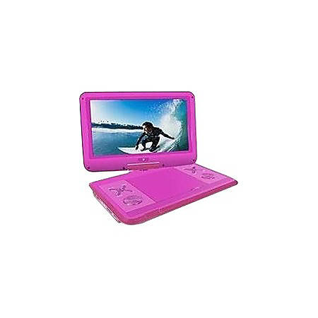 "Ematic EPD121PN Portable DVD Player - 12.1"" Display - 1366 x 768 - Pink - DVD-R, CD-R - DVD Video, Video CD, MPEG-4 - CD-DA, MP3 - Lithium Polymer (Li-Polymer)"