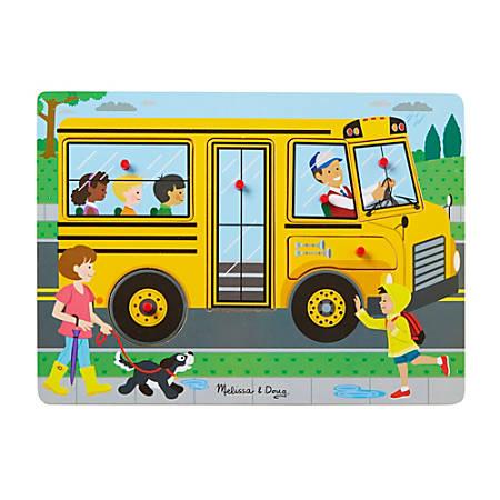 Melissa & Doug The Wheels on the Bus Sound Puzzle, Pre-K - Kindergarten