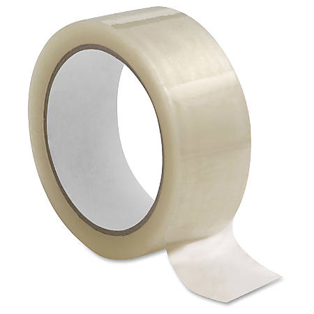 """Sparco 1.6mil Hot-melt Sealing Tape - 2"""" Width x 55 yd Length - Long Lasting, Easy Unwind - 36 / Carton - Clear"""