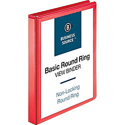 Business Source Round Ring Binder 1