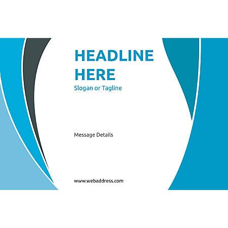 Adhesive Sign, Blue Curve , Horizontal