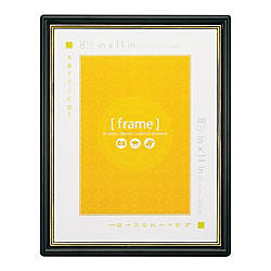 Wall Mountable Certificate Frame Gold Border