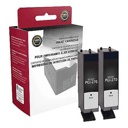 Clover Imaging Group ODPGI270XLBX2 (Canon PGI-270XL / 0319C005) High-Yield Remanufactured Black Ink Cartridges, Pack Of 2 Cartridges