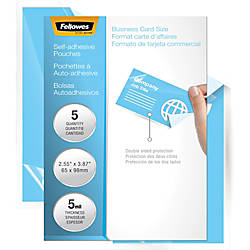 Fellowes Self Adhesive Pouches ID Tag
