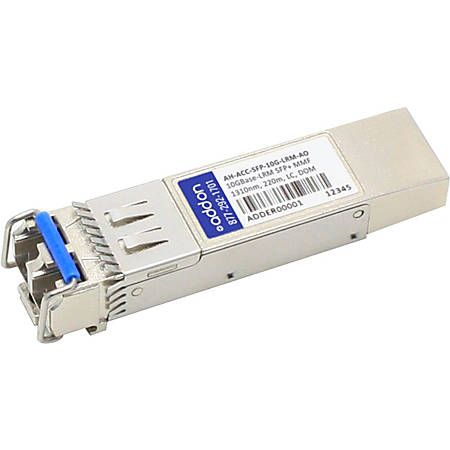 AddOn Aerohive AH-ACC-SFP-10G-LRM Compatible TAA Compliant 10GBase-LRM SFP+ Transceiver (MMF, 1310nm, 220m, LC, DOM)