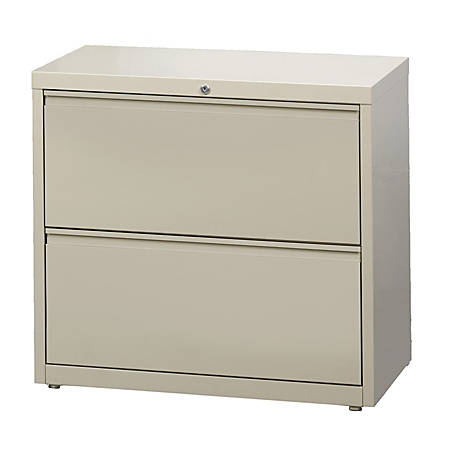 """WorkPro® 30""""W 2-Drawer Steel Lateral File Cabinet, Putty"""
