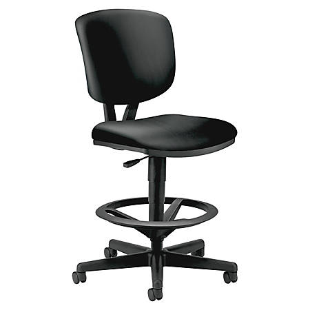HON® Volt® Leather Task Stool, Black
