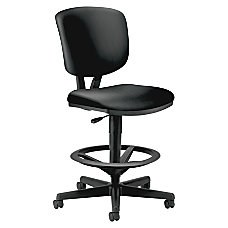 HON Volt Task Stool Leather Black