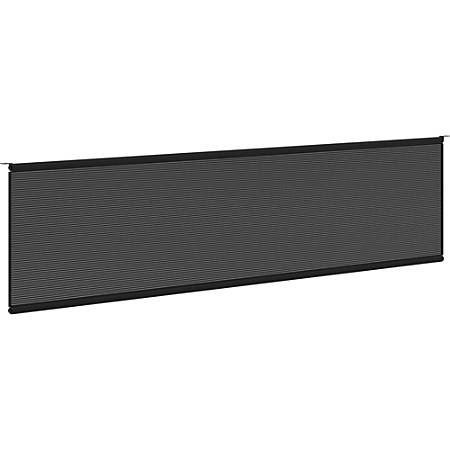 """basyx By HON® Modesty Panel For Multipurpose Training Tables, 60""""W, Black"""