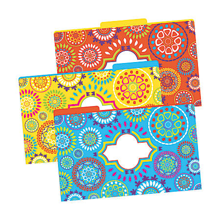 "Barker Creek Tab File Folders, 8 1/2"" x 14"", Legal Size, Moroccan, Pack Of 9"