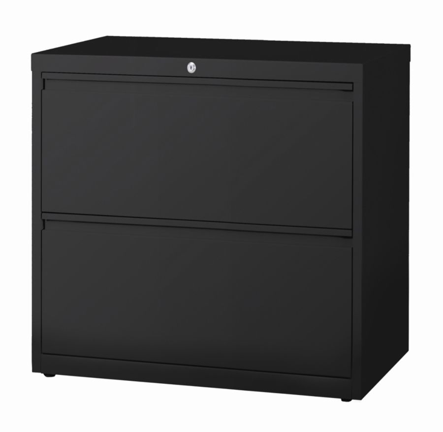 WorkPro 30 W 2 Drawer Steel Lateral File Cabinet Black By Office Depot U0026  OfficeMax