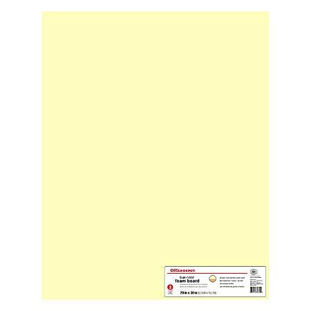 """Office Depot® Brand Sturdy Board® Foam Boards, 20"""" x 30"""", Ivory/Tan, Pack Of 2"""