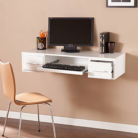 Southern Enterprises Simon Wall Mount Desk, White