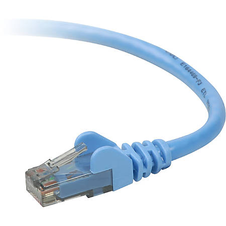 Belkin Cat. 6 UTP Patch Cable - RJ-45 Male - RJ-45 Male - 2ft - Blue
